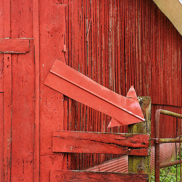 Glendale Wall Art - Photograph - Red Barn With Arrow by Art Block Collections