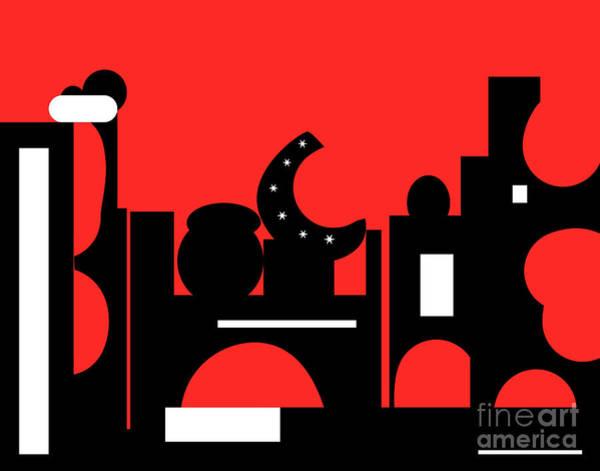 Digital Art - Red Bazaar by Barefoot Bodeez Art