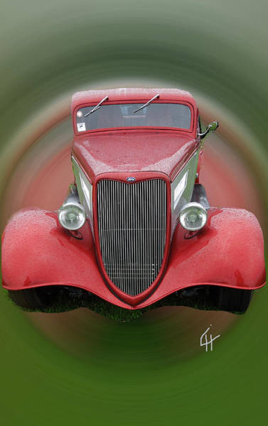 Photograph - Red Beauty Ford Vintage Wagon  Car by Colette V Hera  Guggenheim