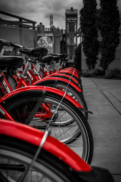 Photograph - Red Bicycles by Ron Pate
