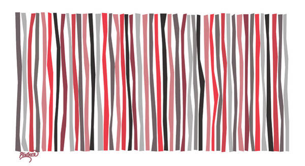 Vertical Line Digital Art - Red Black And Gray Color Sticks by Patricia Lintner