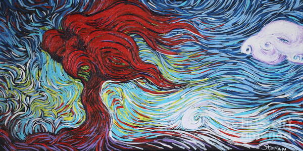 Painting - Red Blazing In The Light  by Stefan Duncan