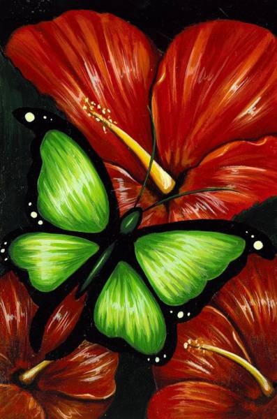 Wall Art - Painting - Red Blooms by Elaina  Wagner