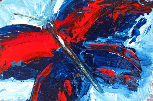 Painting - Red Blue Butterfly by Patricia Awapara