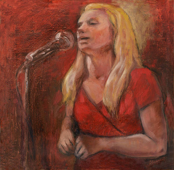 Red Blues Art Print