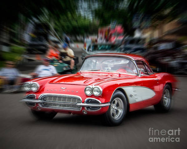 Wall Art - Photograph - Red Blur by Perry Webster