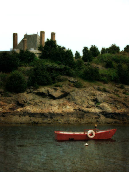 Photograph - Red Boat In Newport by Michelle Calkins
