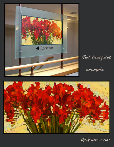 Snapdragons Painting - Red Bouquet Too by Dorinda K Skains