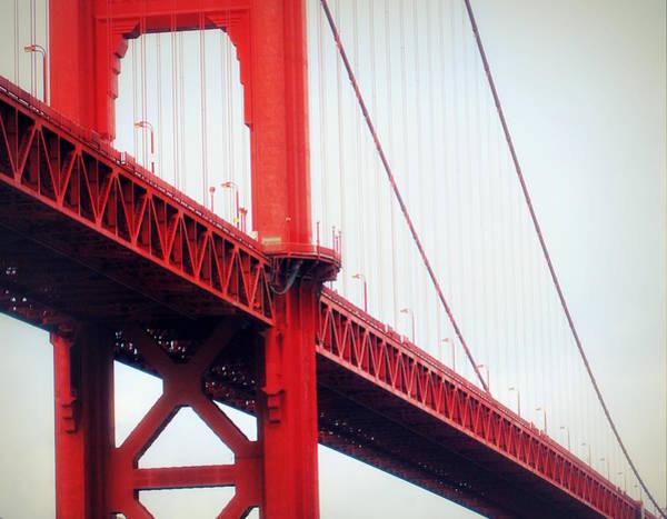 Brillante Photograph - red Bridge by HQ Photo