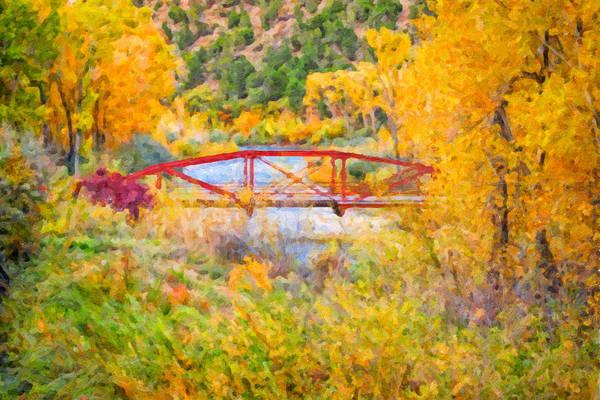 Digital Art - Red Bridge by Rick Wicker