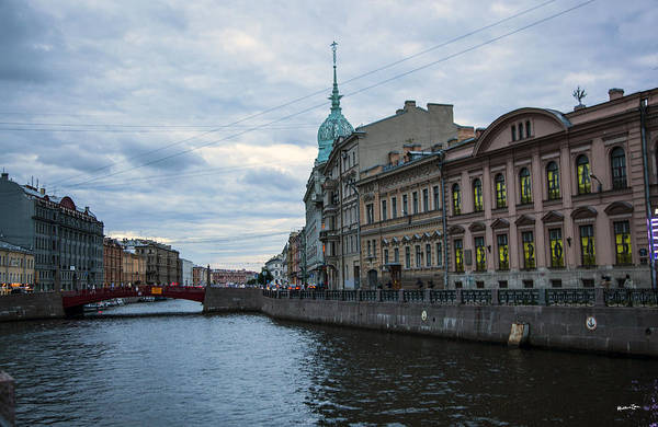 Wall Art - Photograph - Red Bridge - St. Petersburg - Russia by Madeline Ellis