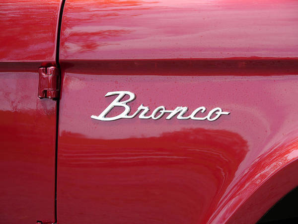 Photograph - Red Bronco I by Richard Reeve