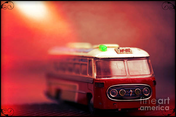 Wall Art - Photograph - Red Bus by Sophie Vigneault