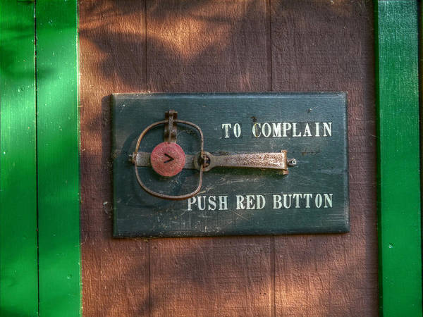 Photograph - Red Button by Richard Reeve