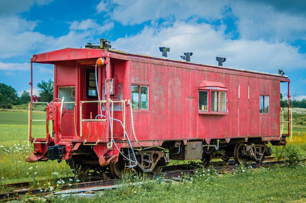Photograph - Red Caboose  7d06183 by Guy Whiteley