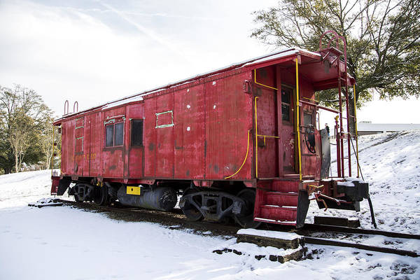 Photograph - Red Caboose by Charles Hite