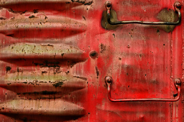 Red Caboose Photograph - Red Caboose by Steven Michael