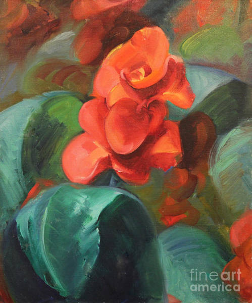 Painting - Red Canna by Art By Tolpo Collection