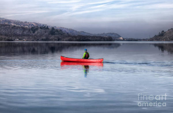 Canoe Photograph - Red Canoe by Adrian Evans