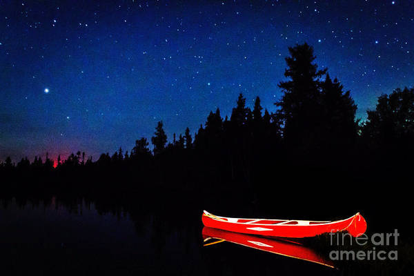 Photograph - Red Canoe by Lori Dobbs