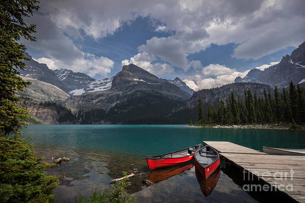 Photograph - Red Canoes by Carrie Cole