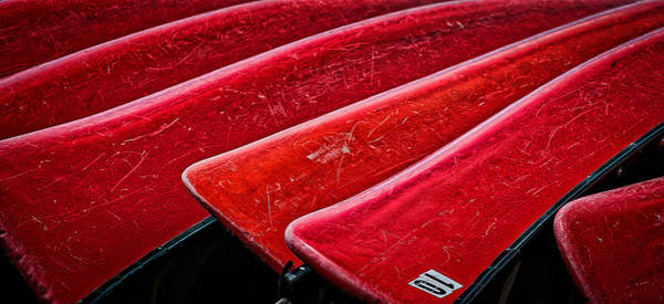 Photograph - Red Canoes by Stuart Litoff