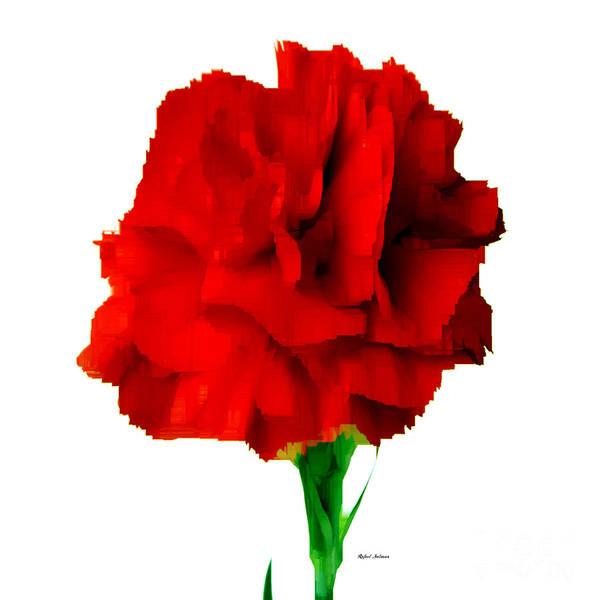 Digital Art - Red Carnation by Rafael Salazar