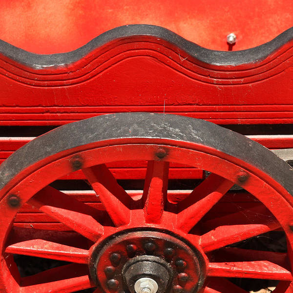 Solvang Photograph - Red Cart by Art Block Collections