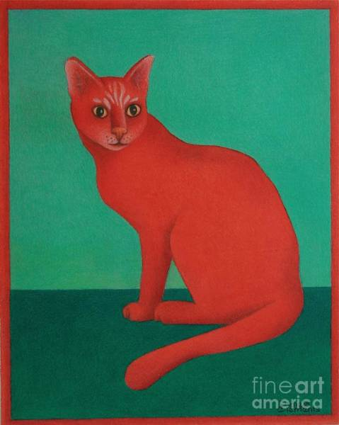 Painting - Red Cat by Pamela Clements