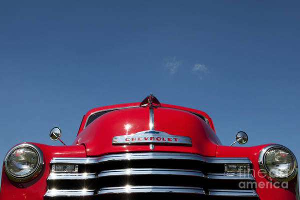Pick Up Truck Photograph - Red Chevrolet 3100 1953 Pickup  by Tim Gainey