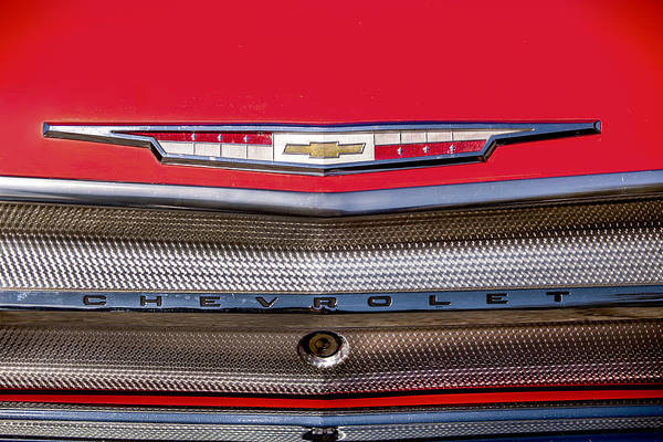 Photograph - Red Chevy Grill by Melinda Ledsome