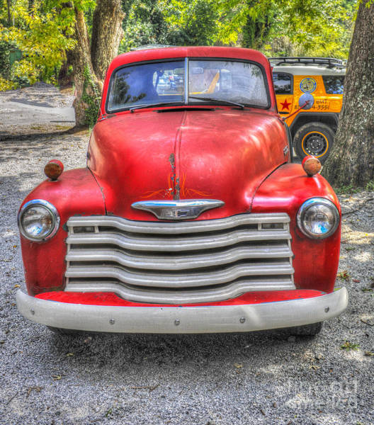 Photograph - Red Chevy Truck by Dale Powell