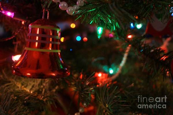 Red Christmas Bell Art Print