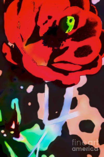 Digital Art - Red Claret - Homage Warhol by Charles Muhle