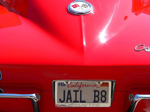 Photograph - Red Classic Corvette Jail Bait by Jeff Lowe
