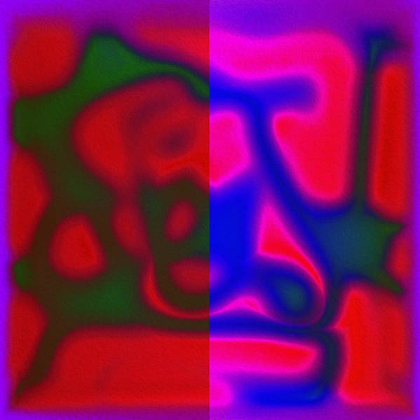 Digital Art - Red Color Leak by Mihaela Stancu