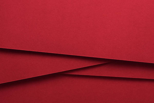 Photograph - Red Colored Paper Crossing by Miragec