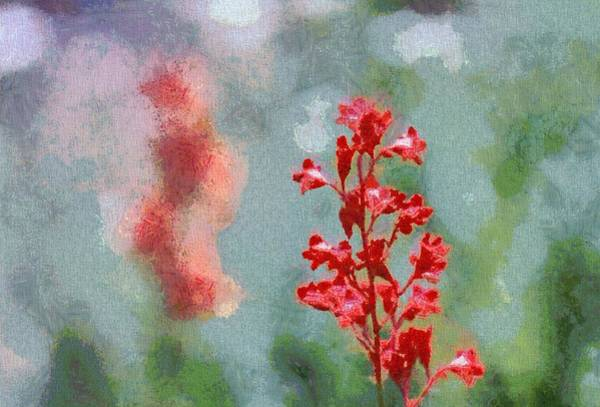 Wall Art - Painting - Red Coral Bells by Dan Sproul