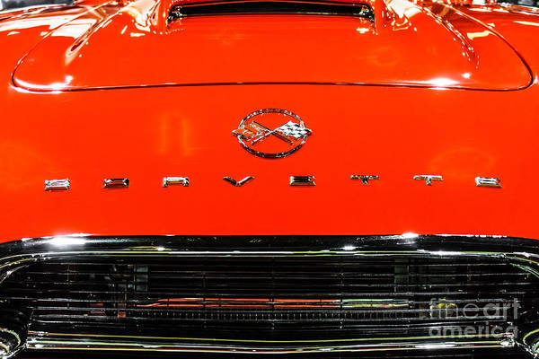 Sportscar Photograph - Red Corvette Picture - First Generation C1 Vette by Paul Velgos