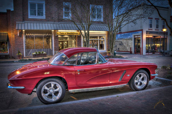 Photograph - Red Corvette by Williams-Cairns Photography LLC