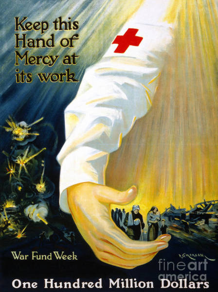 Photograph - Red Cross Poster, 1918 by Granger