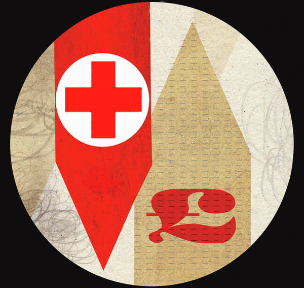 Commercialism Photograph - Red Cross With British Pound Symbol by Ikon Ikon Images