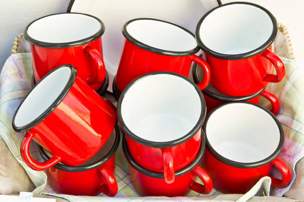 Camping Photograph - Red Cups by Tom Gowanlock