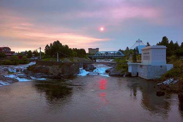 Expo 74 Photograph - Red Dawn Spokane by Daniel Hagerman