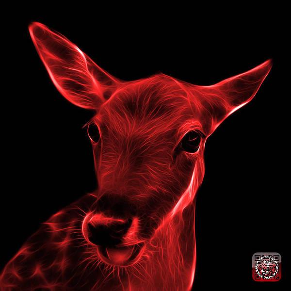 Digital Art - Red Deer - 0401 F by James Ahn