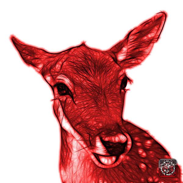Digital Art - Red Deer - 0401 Fs by James Ahn
