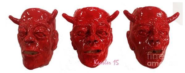 Wall Art - Sculpture - Red Devil by John Keasler