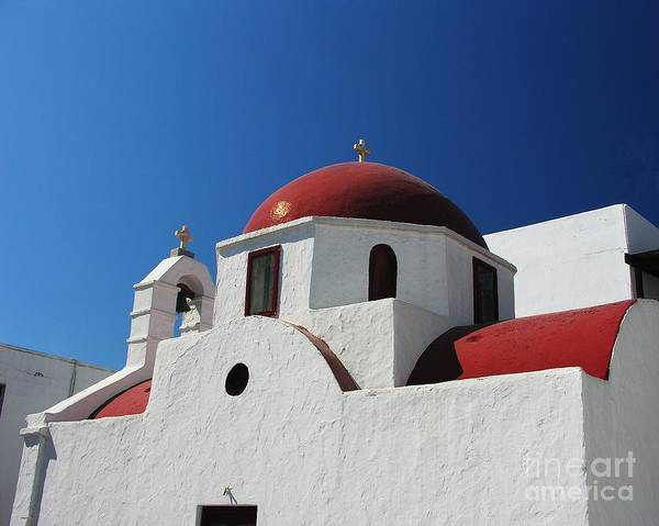 Photograph - Red Dome Church 1 by Mel Steinhauer