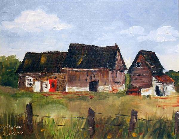 Painting - Red Door Barn by Monica Ironside