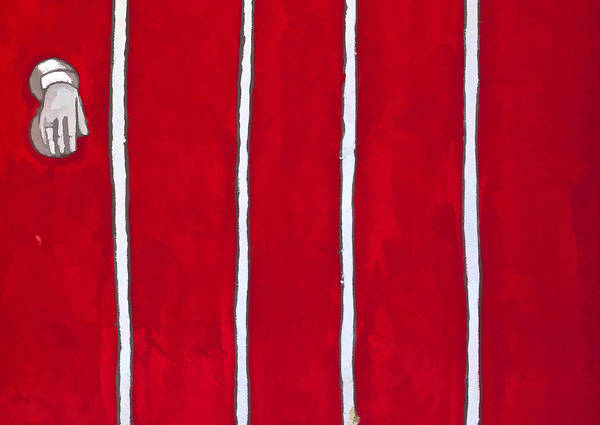 Photograph - Red Door Detail by David Letts